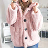 Shaggy Faux Fur Women Coats Pocket Plus Size Teddy Solid Coat Jacket Solid Casual Ladies Outwear