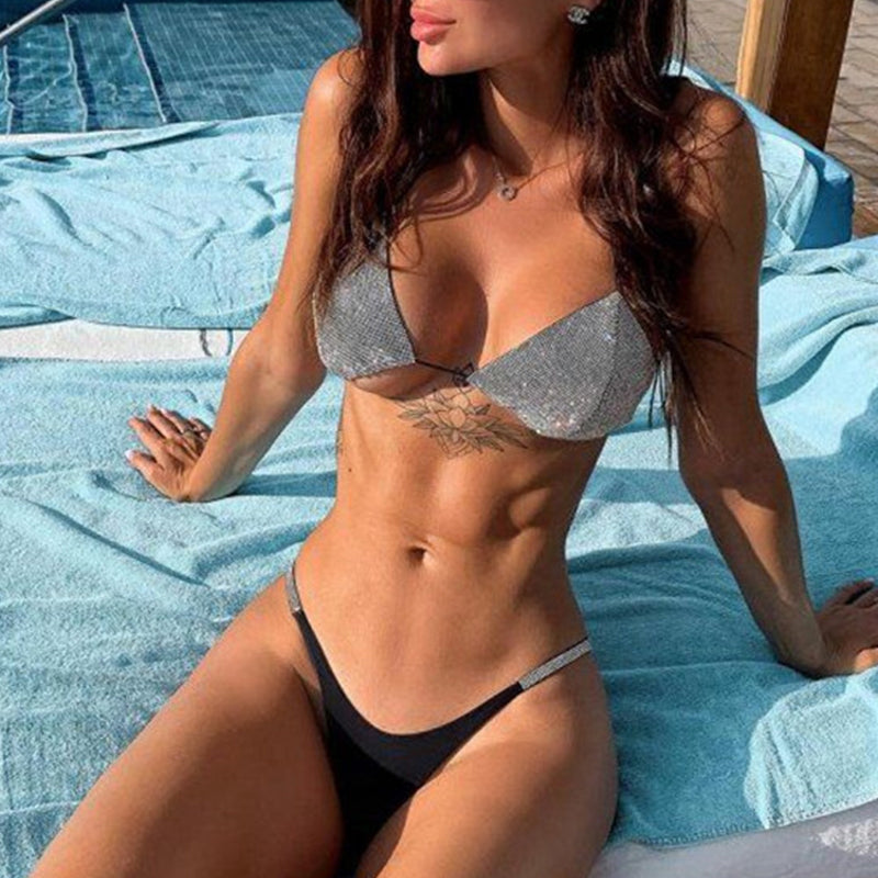 Women Triangle Swimwear Bikini Mujer Extreme Sexy Swimsuit Female Micro Biquinis Diamond Bathing Suit
