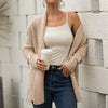 Women Cardigan Casual High Street Pockets Knitted Jackets Female Clothes Warm Coat Plus Size