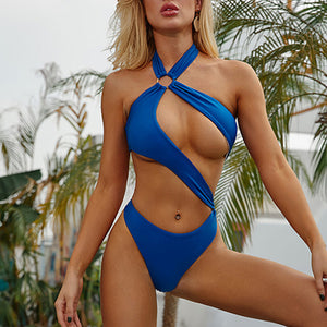 Woman Bikini New White Swimsuit One Piece Bodysuits Hollow Out Micro Swimwear Women High Cut Monokini