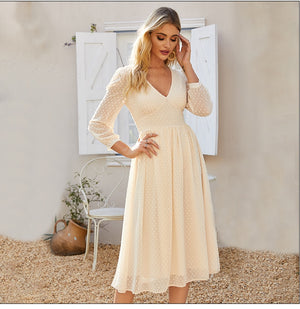 Women Bohemian Style Slim Party Vestidos De Summer Autumn A-line Dresses