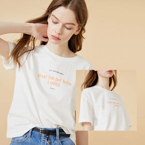 Fashion Casual Women's Letter Print Short-sleeved T-shirt