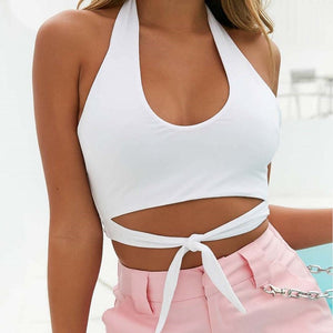 Sexy Women Crop Top Solid Bandage Embroidery Tops Cropped Ladies Spaghetti Strap Elastic Shirt New Summer Vest Camisole
