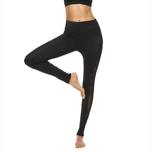 Women Sport Leggings Fitness Yoga Pants Black  Athletic Leggings Sport Tight Mallas Mujer Deportivas Gym Clothes Running