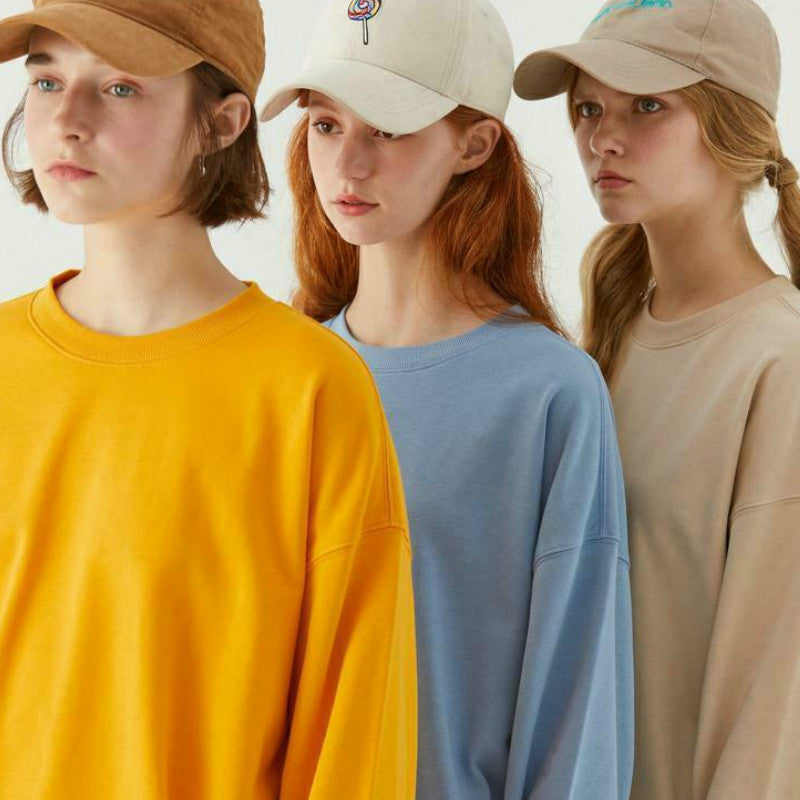 Basic Hoodies for Women Streetwear Female Spring Autumn Solid Colour Hoodies Casual Sweatshirt New Hip Pop Tops