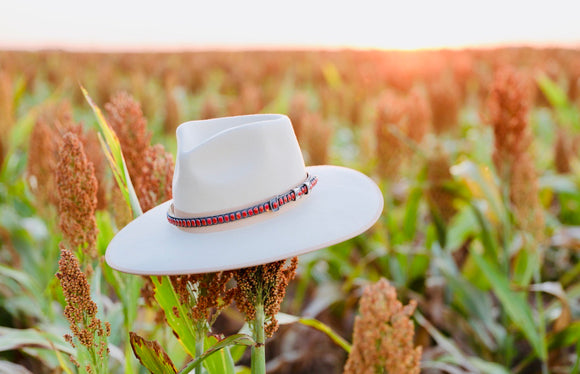 Red Coral Adjustable Hatband