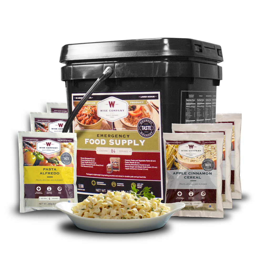 84 Serving Breakfast and Entrée Grab and Go Food Kit | Wise Company