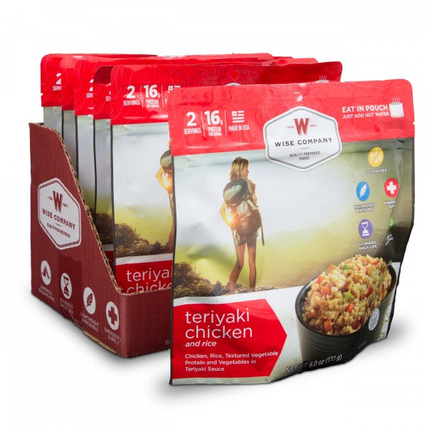 6ct Pack - Outdoor Teriyaki Chicken & Rice (2 Serving Pouch)