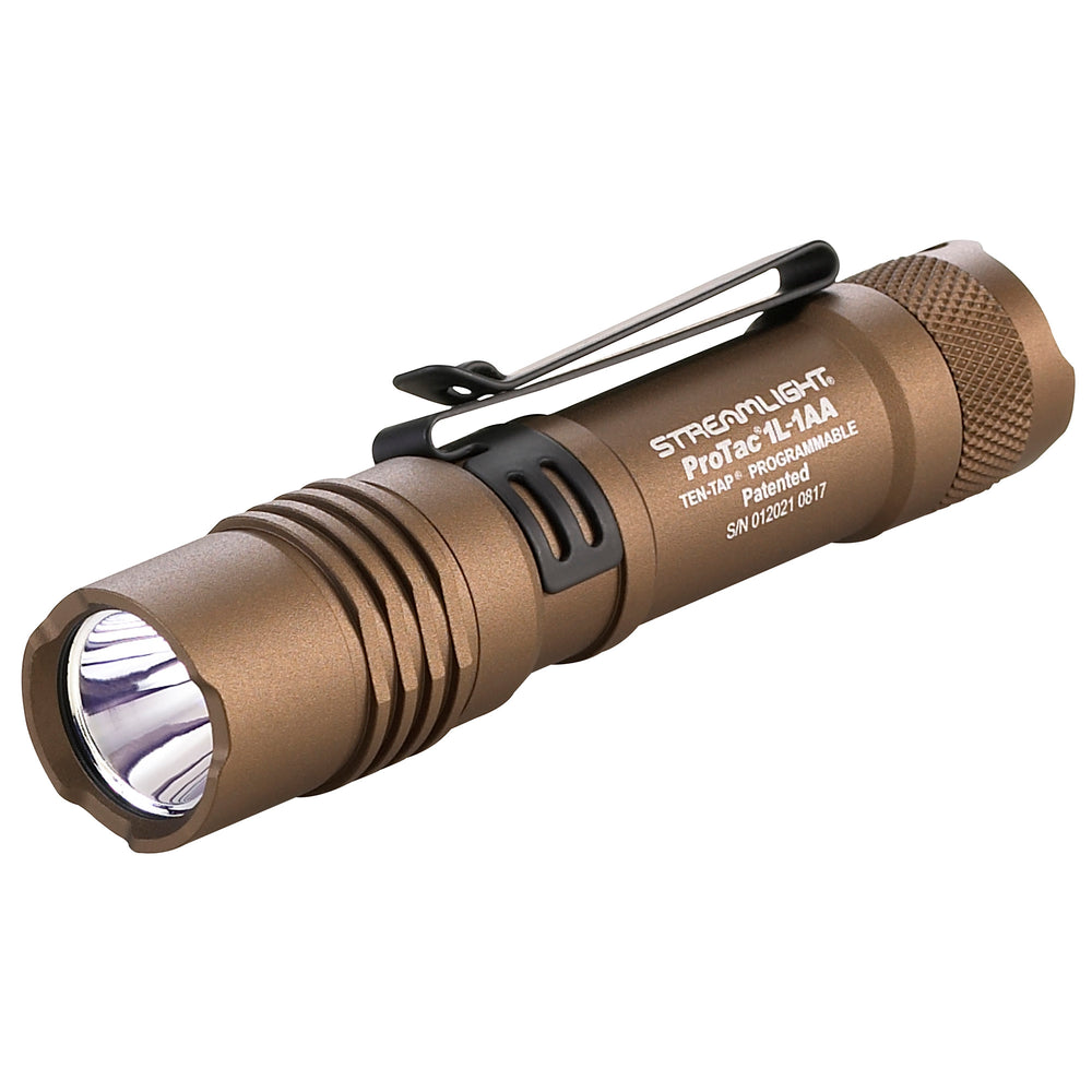 Strmlght Protac 1l-1aa Coyote Brn EDC Flashlight