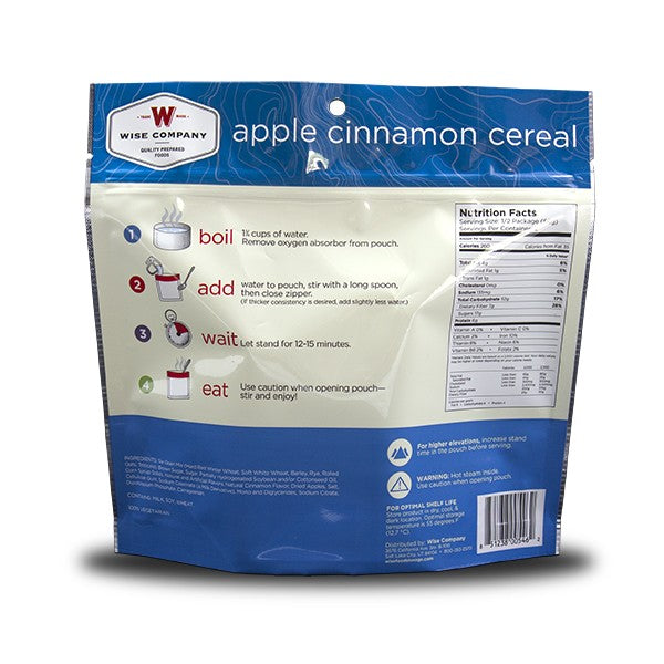 6ct Pack - Outdoor Apple Cinnamon Cereal (2 Serving Pouch)