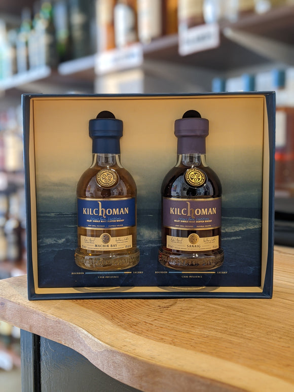 Kilchoman Machir Bay & Sanaig 20cl Gift Pack