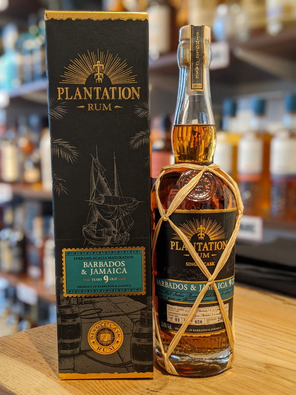 Plantation Single Cask Jamaica Barbados 9 Year Old Acacia Cask Rum