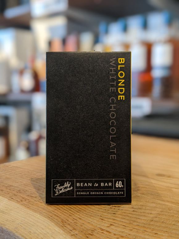 Frankly Delicious Blonde white chocolate bar 60g
