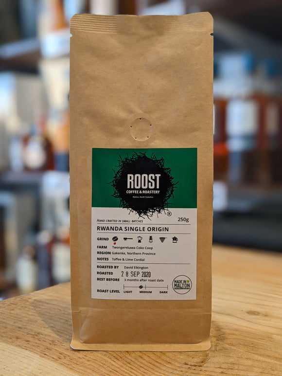 Roost Rwanda Single Origin Whole Coffee Beans