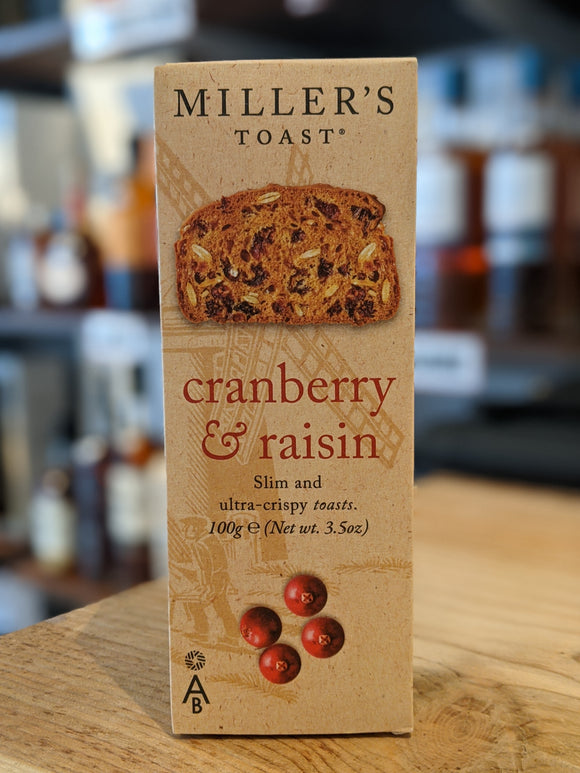 Miller's Toast Cranberry & Raisin 100g