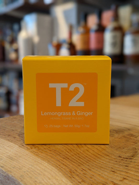 T2 Lemongrass & Ginger Teabag 25pk Box