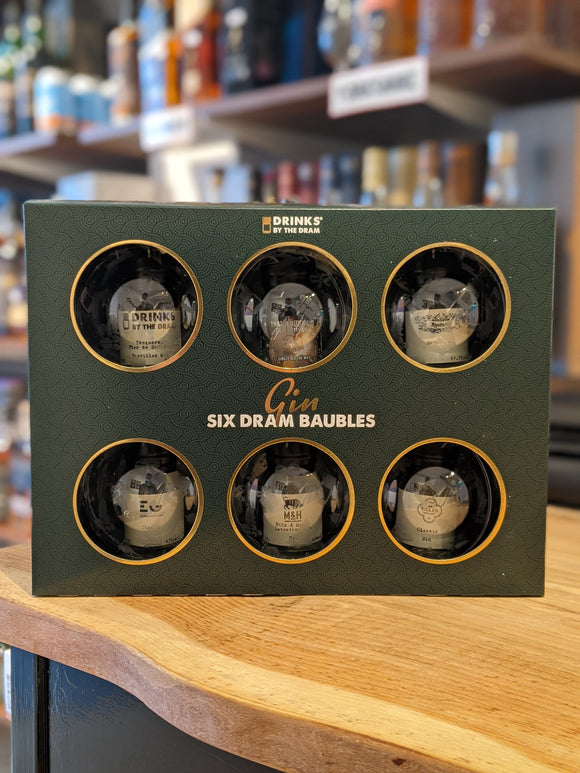 Drinks by the Dram Baubles Set of 6 - Gin