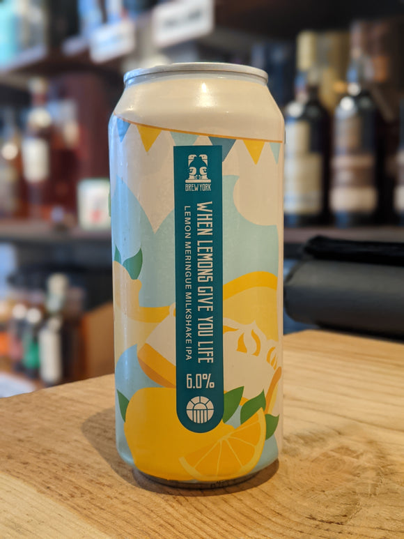 Brew York When Lemons Give You Life Milkshake IPA