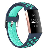 Fitbit Charge 3 | Dual Color Silicone Strap