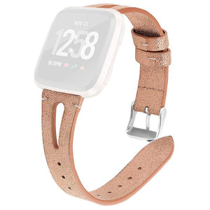 Fitbit Versa Lite | Full Grain Leather Strap - GoStraps.com
