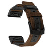 Garmin Fenix 3 HR | Genuine Nylon + Leather Strap - GoStraps.com