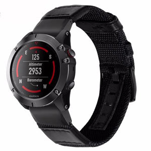 Garmin Fenix 3 | Genuine Nylon + Leather Strap - GoStraps.com