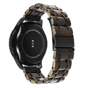 Samsung Gear S2 | Nature Wood w/ Stainless Steel Watch Strap - GoStraps.com