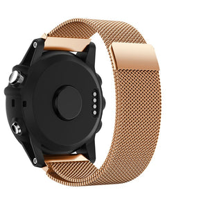 Garmin Fenix 3 | Milanese Magnetic Loop Watch Strap - GoStraps.com