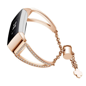 Fitbit Charge 3 | Clover Charm Lucky Bracelet Strap - GoStraps.com