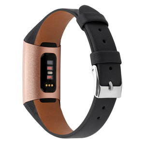 Fitbit Charge 4 | Sleek Leather Strap - GoStraps.com