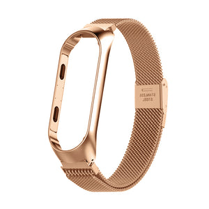Xiaomi Mi Band 4 | Stainless Steel Magnetic Bracelet Strap - GoStraps.com