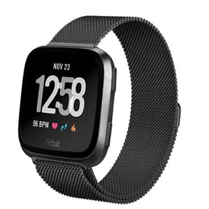 Fitbit Versa 2 | Milanese Mesh Strap - Magnetic Closure Version - GoStraps.com