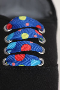 Spots Blue Shoelaces