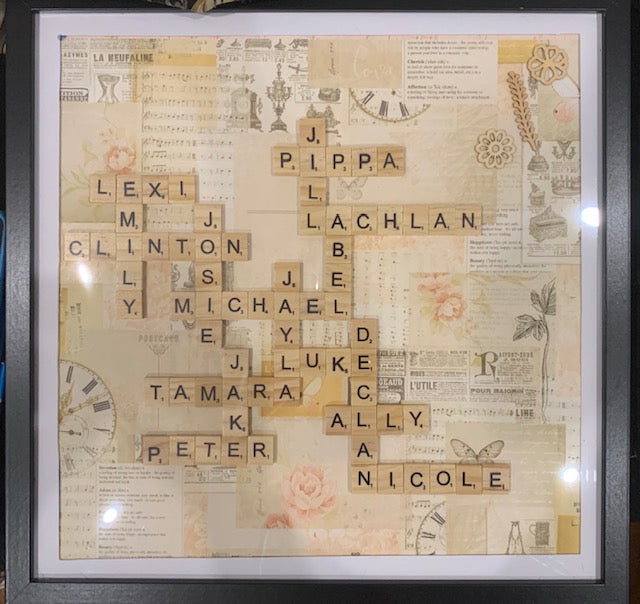 Custom Large Scrabble Tile Crossword Board