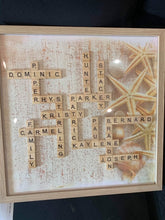 Load image into Gallery viewer, Custom Large Scrabble Tile Crossword Board
