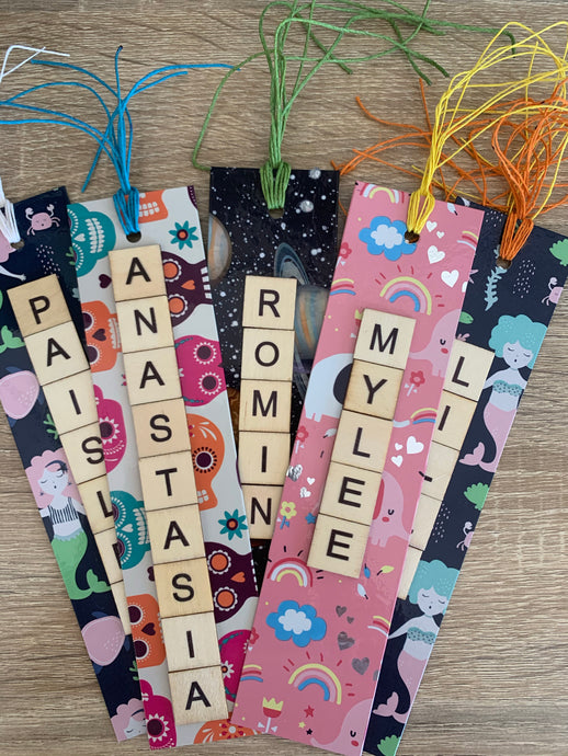 Personalised Scrabble Tile Bookmarks