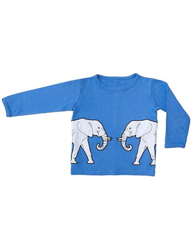 Elephant print long sleeve T-shirt