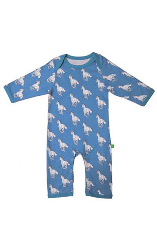 Coco the Horse heritage blue print playsuit
