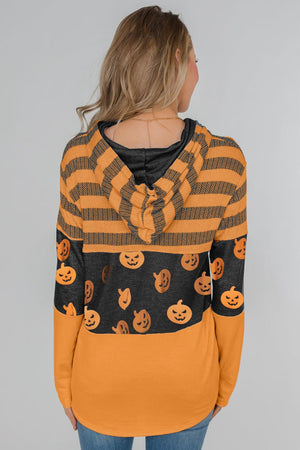Halloween Pumpkin Pattern Long Sleeve Sweatshirt