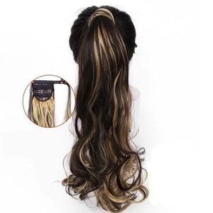 Long Wavy Wig Curly Ponytail Hair Extension Synthetic