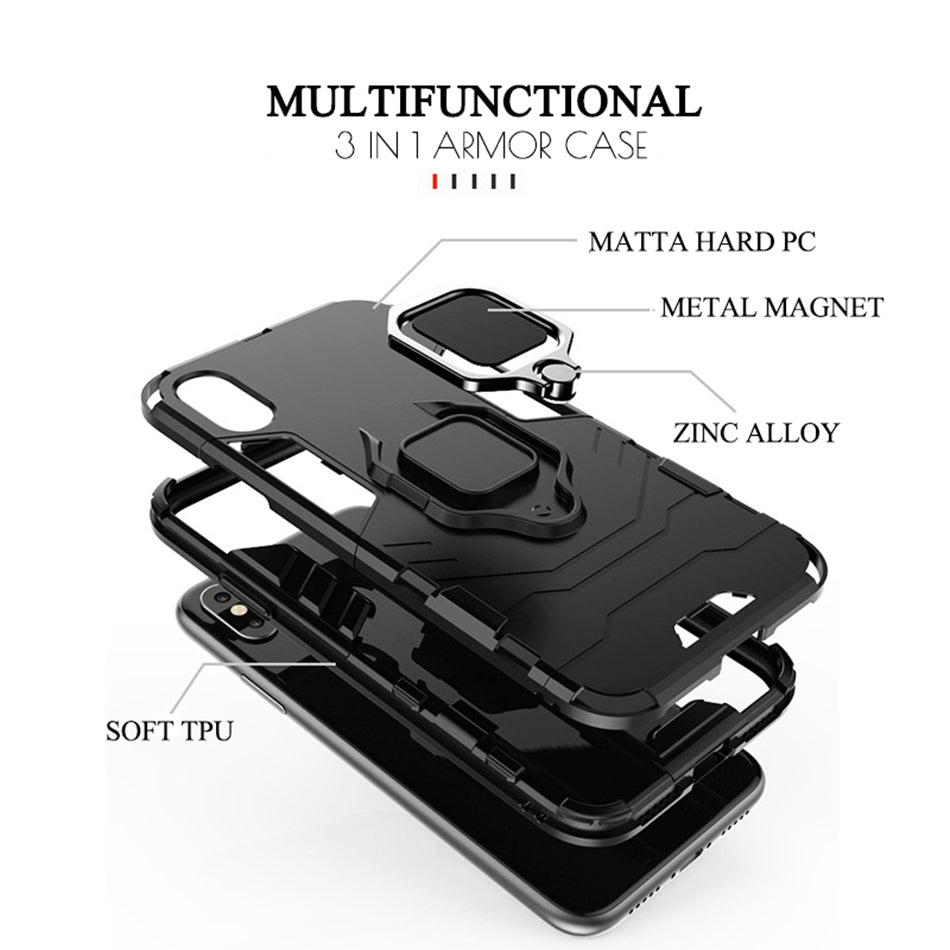 Shockproof Case For iPhone 11 Pro Max Finger Ring Holder