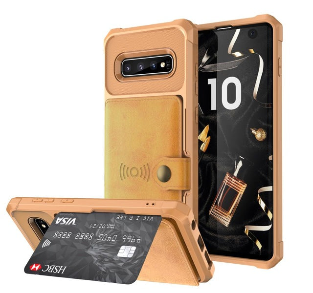 Samsung Galaxy S9 S10 Plus S10e Note 9 Credit Card Case PU Leather Flip Wallet Cover