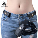 Jeans buckle-free belt /new no buckle belt