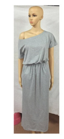 Women's loose maxi dress with Pocket Vestidos