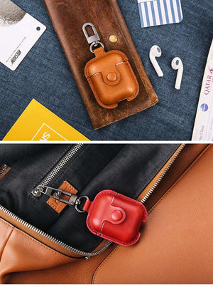 Headphone Case For Airpods Leather Case