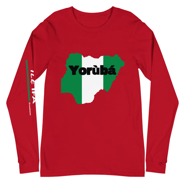 Yorùbáland long sleeve tees