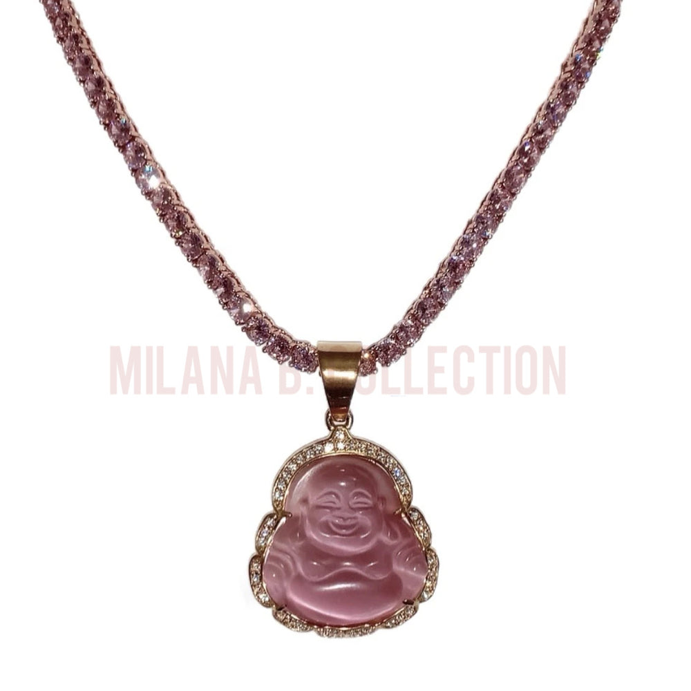 Icy Pink Buddha Set | Gold