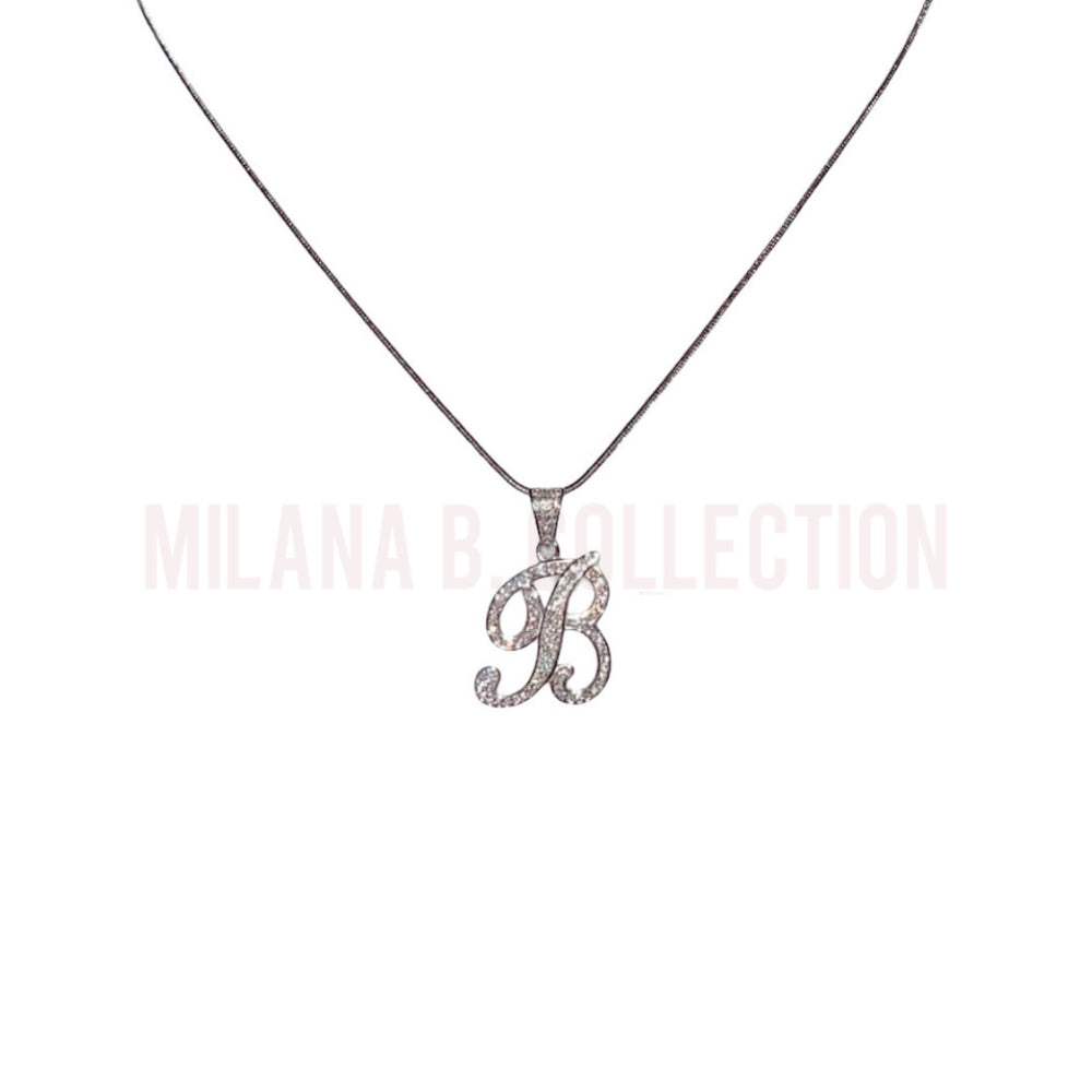 MBC Mini Script Initial Necklace