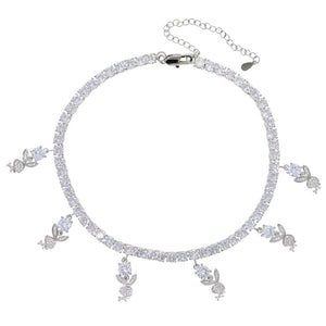 Load image into Gallery viewer, Icy Bunny Choker | Silver