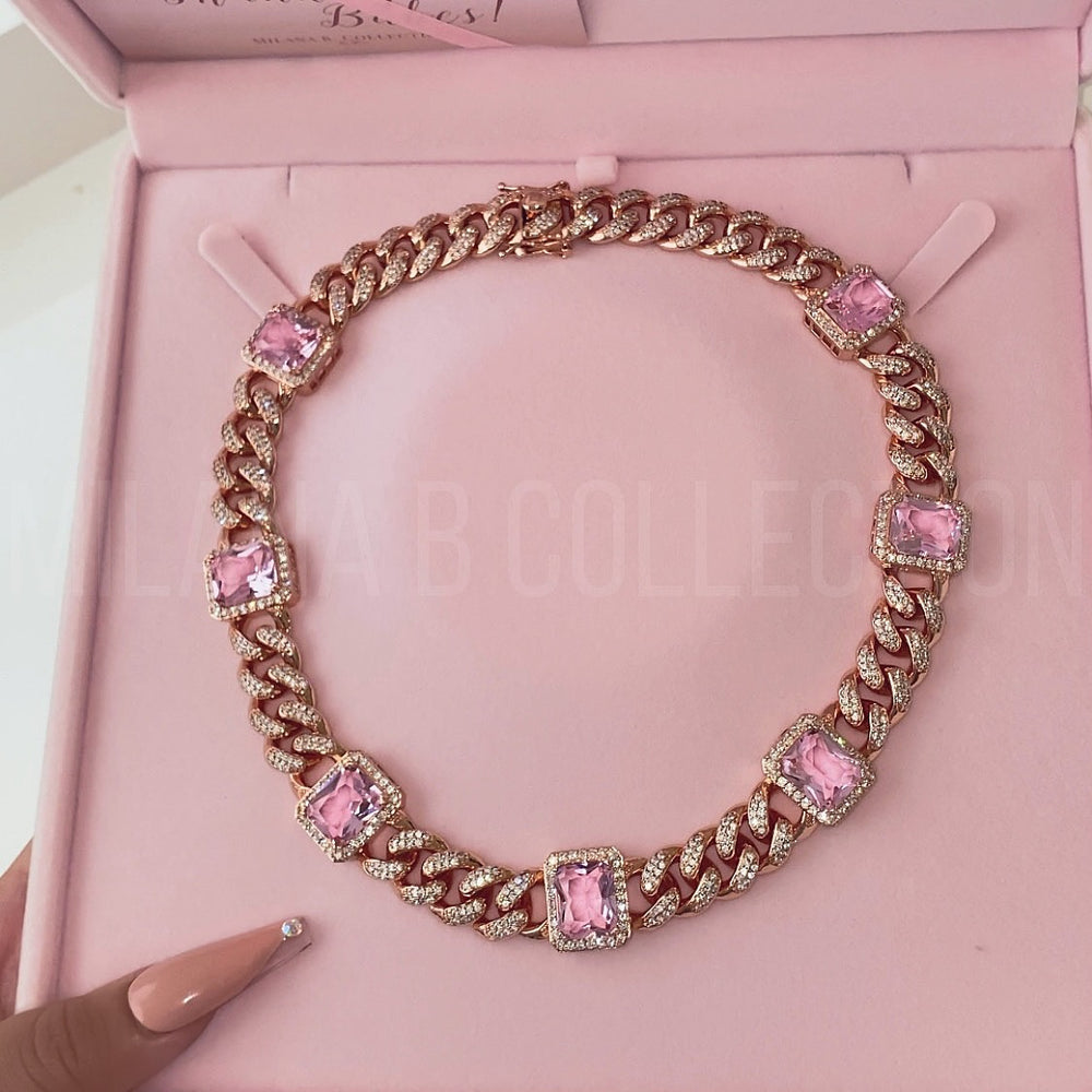 Rosé Diamond Cuban Link